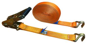 Текстильные (полиэфир) стяжные ремни для крепления грузов