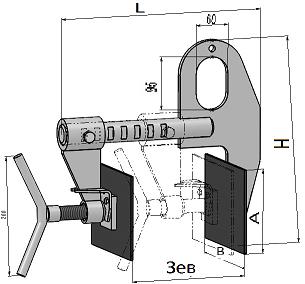 Захват грузоподъёмный струбцинный для сэндвич-панелей «БУЛЬДОГ – 17»